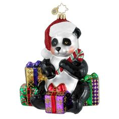 Image detail for -Christopher Radko Christmas Ornament - Pandamonium