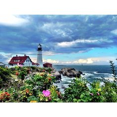 """Do beautiful things with your beautiful life."" #maine #newengland #flowers #ocean"