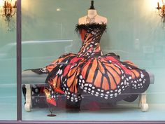This fabulous couture butterfly dress is designed by Luly Lang.