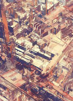 Cities IV  /  Deconstructed by atelier olschinsky , via Behance