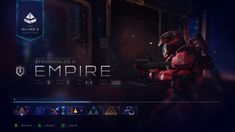 Ramiro Galan : Some UI explorations I did for Halo 5 Guardians while at 343 Industries. Halo Game, Halo 5, Ui Ux Design, Interface Design, Role Games, 343 Industries, Game Card Design, Empire, Game Interface