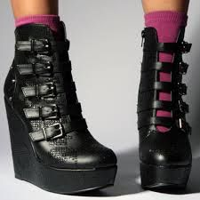 heel boots ankle buckle