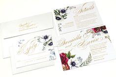 Winter Wedding Invitation Burgundy Wedding by OneSuiteDay on Etsy