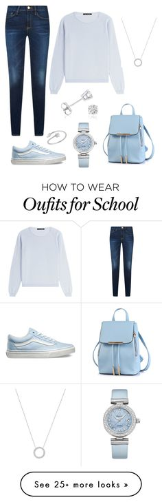 """""""a school look"""" by aliceborioni on Polyvore featuring IRIS VON ARNIM, Vans, Amanda Rose Collection, OMEGA and Michael Kors"""