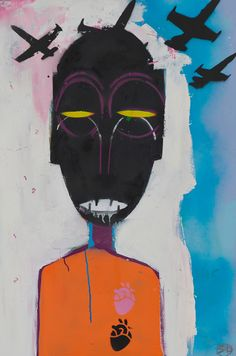 Robert del Naja is a founding member of the band Massive Attack and remains at the group's core today. Using the tag he has been active as a graffiti. Heart Illustration, Graphic Design Illustration, Photoshop, Arte Pop, Naive Art, Mixed Media Canvas, Art Music, New Art, Sculpture Art