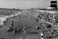 Tel Aviv, Israel 1948: the hulk of the Altalena is in the distance//Robert Capa