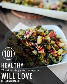 101 Healthy Thanksgiving Sides + Desserts | HelloNatural.co