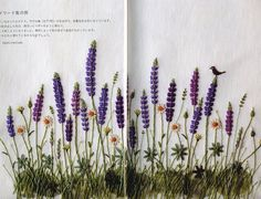 Encounters with Anne of Green Gables - Japanese Embroidery Pattern Book - Natural Stitch Motifs, Kazuko Aoki - B902. $33.50, via Etsy.  lovely lupins