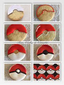 Pokemon Themed Party, Pokemon Birthday Cake, Birthday Cookies, 7th Birthday, Birthday Ideas, Royal Icing Cookies, Sugar Cookies, Baby Cookies, Heart Cookies
