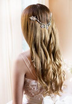 Boho bridal hair chain Bridal Hair Wrap Wedding by LottieDaDesigns, $68.00