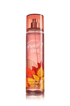 Marshmallow Pumpkin Latte - Fine Fragrance Mist - Signature Collection - Bath & Body Works - Lavishly splash or lightly spritz your favorite fragrance, either way you'll fall in love at first mist! Our carefully crafted bottle and sophisticated pump delivers great coverage while conditioning aloe mist nourishes skin for the lightest, most refreshing way to fragrance!