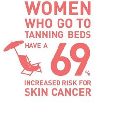 Avoid tanning beds. Reduce your risk of skin cancer. Protect your skin. #SkinCancer #EnvisionROC