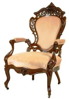 Rococo revival chair, second empire...wood detailing