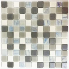 """Signature Line 1"""" x 1"""" Glass Mosaic Tile in Brown"""