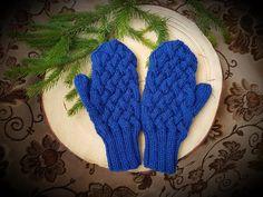 blue mittens Blue Mittens, Gloves, Knitting, Fashion, Moda, Tricot, Fashion Styles, Breien, Stricken