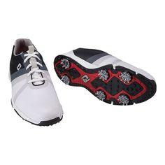 f3f09f1aa64 Footjoy Men's Energize Wide Golf Shoes - White/Black White Golf Shoes, Black  White