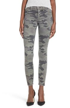 Hudson Jeans Hudson Jeans 'Nico' Print Ankle Skinny Jeans available at #Nordstrom