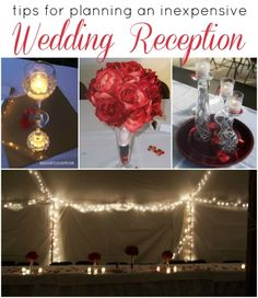 Wedding Crafts: An Inexpensive Reception - Mad in Crafts (I like the way they did the lights in the tent) Low Cost Wedding, Wedding Costs, Budget Wedding, Diy Wedding, Wedding Reception, Wedding Flowers, Wedding Planning, Wedding Day, Green Wedding