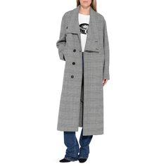 STELLA McCARTNEY Flor Gray Check Long Coat Long D r