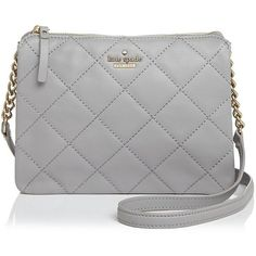 kate spade new york Emerson Place Harbor Quilted Leather Shoulder Bag (£214) ❤ liked on Polyvore featuring bags, handbags, shoulder bags, kate spade purses, cross-body handbag, cross body, kate spade and shoulder hand bags