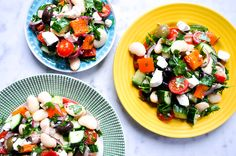 This salad always makes us think of summer! It's our Marinated Butterbean Greek Salad from  Good And Simple. Perfect for packed lunches and picnics.