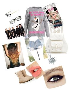 """fun in the snow with One Direction"" by calimybae ❤ liked on Polyvore featuring interior, interiors, interior design, home, home decor, interior decorating, Forever New, Kate Spade, BERRICLE and Charlotte Tilbury"