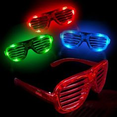 Make a bold and stylish statement during the next event with these light-up glow LED slotted glasses! An ideal handout for concerts, sporting events, spirit nights and so much more, these eye-catching retro shades are a cut above the rest thanks to their high-powered LED lights that will dazzle in the dark. Batteries are included and installed. Customize with an imprint of your company name and logo to maximize brand exposure on a memorable item!