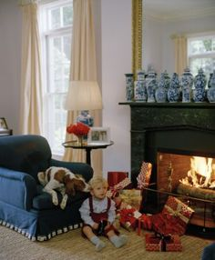 Aerin Lauder's house at Christmas- Literally one of my most favorite interiors ever