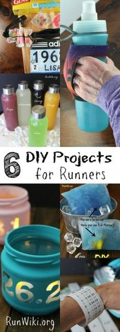 6 DIY Projects for Runners- training for a half marathon, 5k, 10k, or marathon? Here are 6 homemade projects you wont want to miss during your 12 weeks. Running motivation | fitness | quotes | inspiration |beginners #running #correr #motivacion #concurso #promo #deporte #abdominales #entrenamiento #alimentacion #vidasana #salud #motivacion
