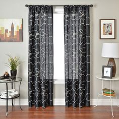 Colchester Ave Kora Rod Pocket Curtain Panel- merlot with gold rings 55x84 $29