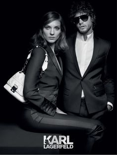 Karl Lagerfeld Spring Summer 2014 collection campaign featuring Models ... Check out the latest luxury handbags offers