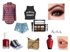 """""""Just Got Bored"""" by whimsicalme ❤ liked on Polyvore featuring WithChic, NSF, Dooney & Bourke, Essie, Charlotte Tilbury and LORAC"""