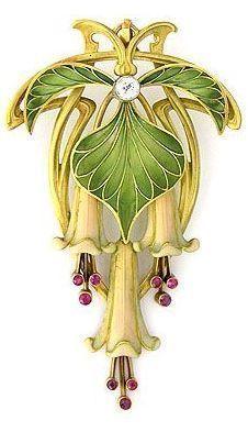 Art Nouveau Brooch or Pendant c.1895-1910