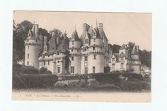 Chateau de Usse Postcard early 1900's unused not stamped