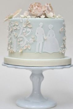 Single Layer Wedding Cake Silhouettes | ♥ blue ice ♥