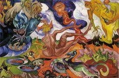"Stanisław Ignacy Witkiewicz ""Witkacy"" - Creation of the World - Cobra Art, Google Art Project, Francisco Goya, Georges Braque, Body Drawing, Agra, Surreal Art, Art Google, Psychedelic"