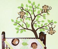 Baby Nursery Wall Decals Nursery Monkeys by SurfaceInspired, $74.99