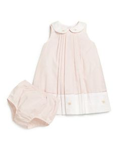 Ralph Lauren - Infant's Striped Pleated Cotton Dress