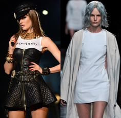 The 90's are back! We've seen 90's trends in television and nostalgic products but now influences from this decade are popping up in fashion. Many 90's influences were spotted on the Spring 2013 runway shows such as the grunge side of the 90s as well as the opposite: the glam supermodel of the 90s. Plaids, mini-skirts, leather, denim, and bold power suits were all present on the runways this spring and all are reminiscient of my personal favorite decade. -Richelle B.