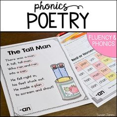 This poetry unit includes 38 different phonics poems that focus on different word families or phonemes.
