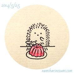 Little hedgehog, seems to like blancmange... this little hedgie is the best!
