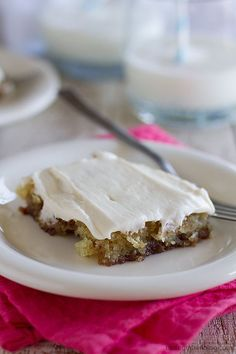 Filled with cinnamon, spice and everything nice, this sheet cake is super tender and moist and addictive!