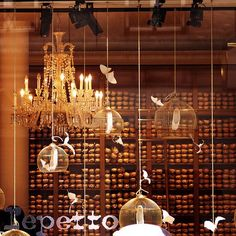 Chandelier, birdcages, toe shoes. Pourquoi pas?