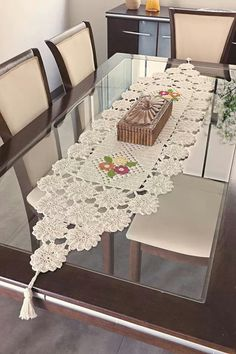 - Diy Crafts - M - Diy Crafts Crochet Square Patterns, Crochet Stitches Patterns, Doily Patterns, Crochet Motif, Crochet Table Topper, Crochet Table Runner Pattern, Crochet Tablecloth, Crochet Decoration, Crochet Home Decor
