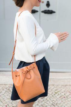 Mansur Gavriel Bag September 26th [outfit] http://www.the-working-girl.com/2014/09/jupe-neoprene-sugarlips/