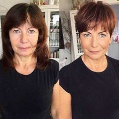 Brown Pixie With Bangs For Older Ladies frisuren feines haar vorher nachher 9 Hair Stylist's Tips for Looking Younger Trendy Haircut, Haircut For Older Women, Older Women Long Hair, Short Hairstyles For Women, Bob Hairstyles, Short Haircuts, Elegant Hairstyles, Haircut Short, Good Haircuts
