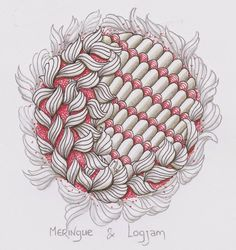 Challenge #178 The challenge this week is to make a duo-tangle with tangles based on our initials. Mine are M L and I used the tangles Meringue and Logjam.