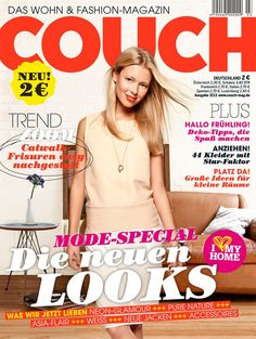 COUCH Ausgabe 03/2013 Fashion Magazin, Couch, Trends, Space Fashion, Dressing Up, Tips, Gowns, Settee, Sofas