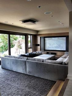 Home Theater Room Ideas. Start by determining the overall theme that will be used for your home theater design. Home Cinema Room, At Home Movie Theater, Best Home Theater, Home Theater Setup, Home Theater Speakers, Home Theater Rooms, Home Theater Seating, Home Theater Design, Home Theater Projectors