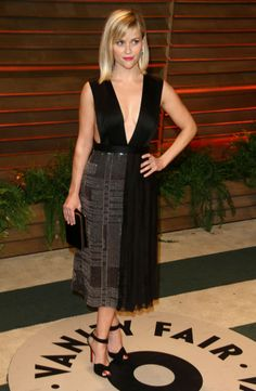 Reese Witherspoon in Hugo Boss | Vanity Fair Oscar Party 2014